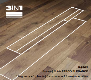 kaindl 3 en 1 8 mm natural touch roble farco elegance